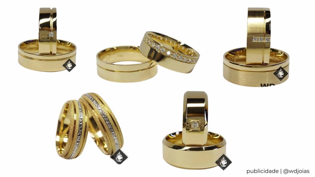 alianças   aliança de compromisso   aliança de casamento   como usar aliança com outros acessórios   anel prata   anel dourado   mix de anéis   aliança   wd joias   loja de joias   joias online   modelos de aliança