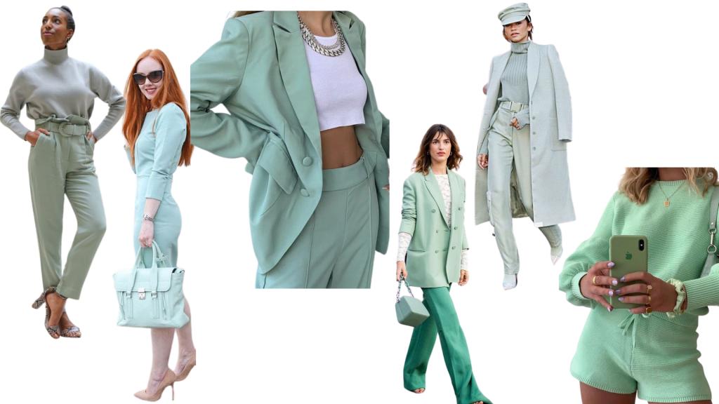 tendencias inverno 2021 | streetstyle | inverno 21 | cores pastel | looks monocromáticos | verde menta | bege | marrom | rosa blush