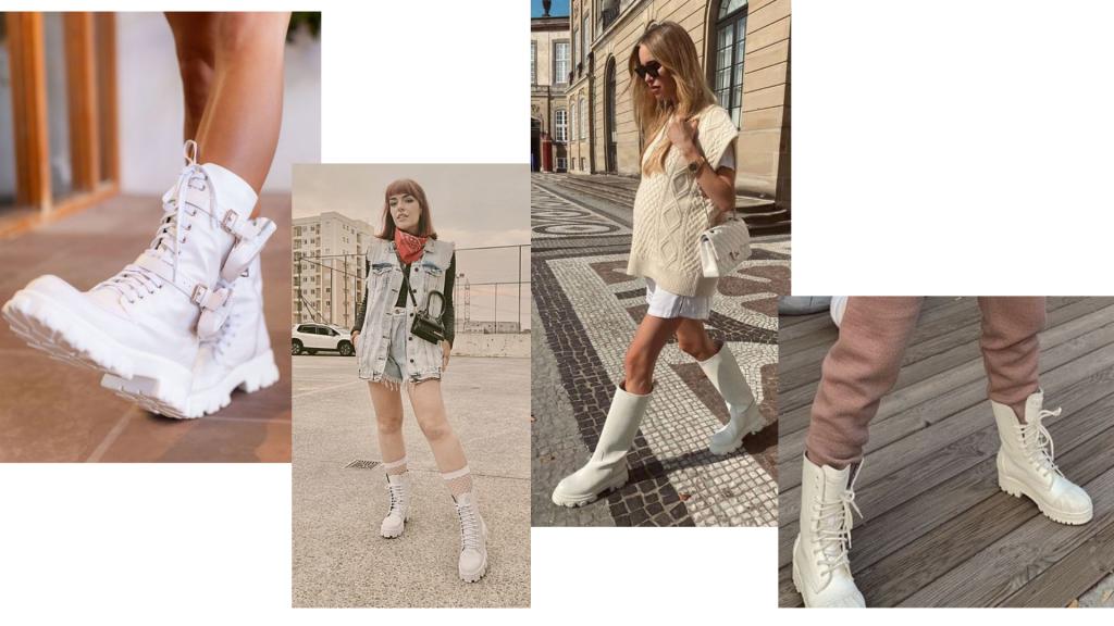 coturno branca | bota coturno | inverno 2021 | moda inverno | bota coturno | bota branca | looks com bota branca